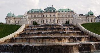 Belvedere Vienna fountain