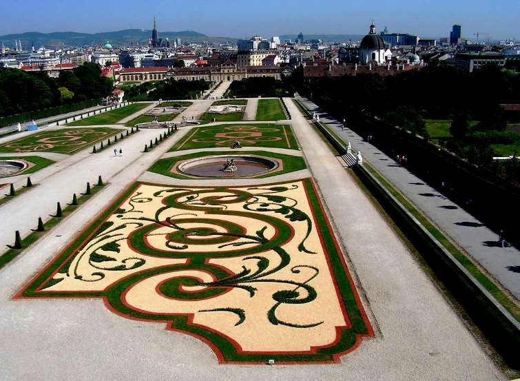 Pictures from Vienna Belvedere garden
