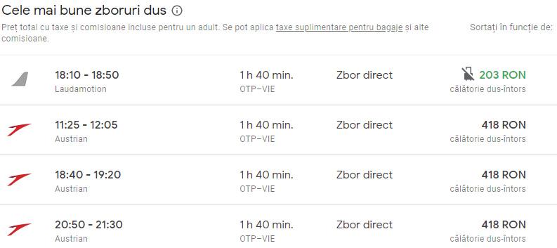 Bucuresti - Viena - Transfer gratuit de la aeroport Viena - Cazare Ieftina